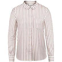 f0652d78b099 ONLY Mia Damen Lange Bluse Hemdbluse Langarm Mit Streifen-Muster Loose Fit