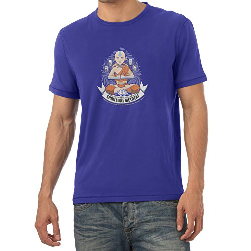 Texlab Air Temple Island Spiritual Retreat - Herren T-Shirt, Größe S, Marine