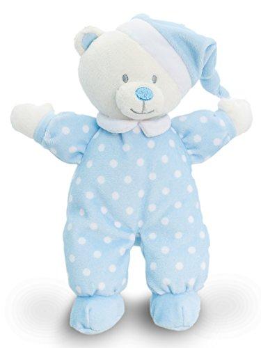 offtier Bär Blau mit Schlafmütze, Plüschbär Teddy 22 cm ()