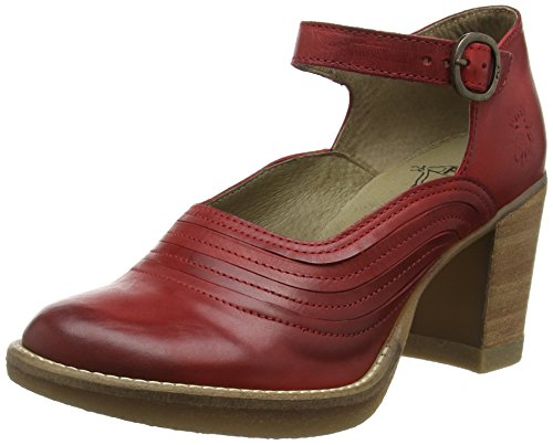FLY London Hipe745fly, Mary Jane Femme Rouge (Red 004)