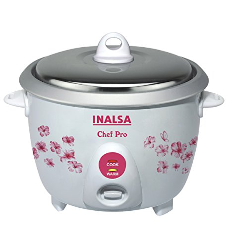 Inalsa Chefpro 650 Watt Rice Cooker in 1.8-Litre (White)