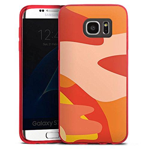 DeinDesign Slim Case kompatibel mit Samsung Galaxy S7 Edge Silikon Hülle Ultra Dünn Schutzhülle Camouflage Bundeswehr Orange