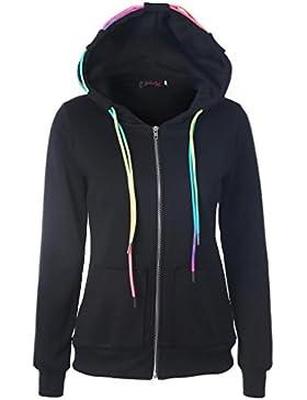 ropa de mujer otoño invierno abrigo chaqueta,RETUROM Más nuevo estilo mujeres con capucha cremallera Sudadera...