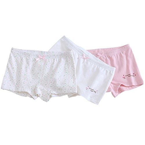 Mädchen Slips Baumwolle im 3er PACK, Kinder-Unterwäsche SET Baby-Mädchen Höschen 3-4 Jahre