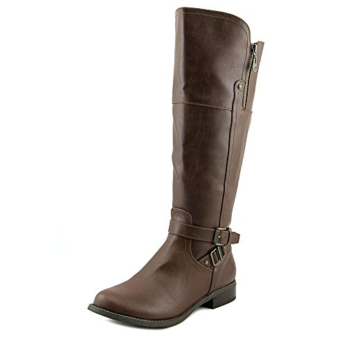 b38e139aa4586d Guess Knie G Stiefel Kunstleder hoch Calf Dark Mode By Brown Heylo Rund  Wide B5nq6Uw5