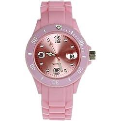 Uhr Silikon-Style Pink hell