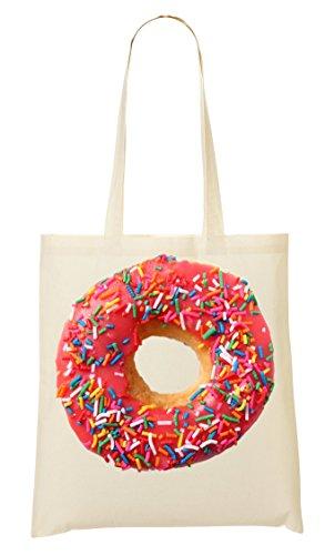 Sparkle Sprinkled Doughnut Hipster Fashioned Artwork Tragetasche Einkaufstasche (Hipster Sparkle)
