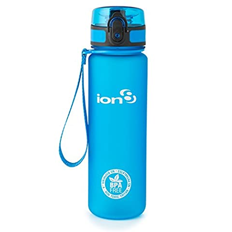 Ion8 Leak Proof BPA Free Water Bottle - 500 ml, Frosted Blue