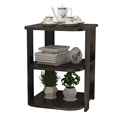 Oak Hall-möbel (Side Tables,Tables End Table Side Hall Table Lamp Plant Consol Tall Hallway Furniture with Storage Rack Coffee Table Desk with (Color : Black Willow Color, Size : 40 * 40 * 51cm))