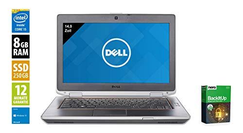 Dell Latitude E6420 | Notebook | Laptop | 14,0 Zoll (1600x900) | Intel Core i5-2540M @ 2,6 GHz | 8GB DDR3 RAM | 250GB SSD | DVD-Laufwerk | Windows 10 Home (Zertifiziert und Generalüberholt) 900 Wsxga Display
