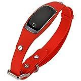 WTTHCC Impermeable silicio Mascotas Collar GPS gsm GPRS Tracker Tiempo Real localizador Localización de GPS + LBS + WiFi para el Gato del Perro Que Sigue Geofence,Red