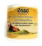 Suppe Gemüsebrühe BIO Versandkostenfrei 300g RASO Gekörnte Brühe EXTRA FEIN - BASICHES LEBENSMITTEL - Suppen und Streuwürze ohne Geschmacksverstärker, ohne Glutamat, ohne Hefeextrakt, ohne Lactose, ohne weitere Zusatzstoffe - Vegan und Vegetarisch ohne weiteren Zusatz von Fett- und, Zucker