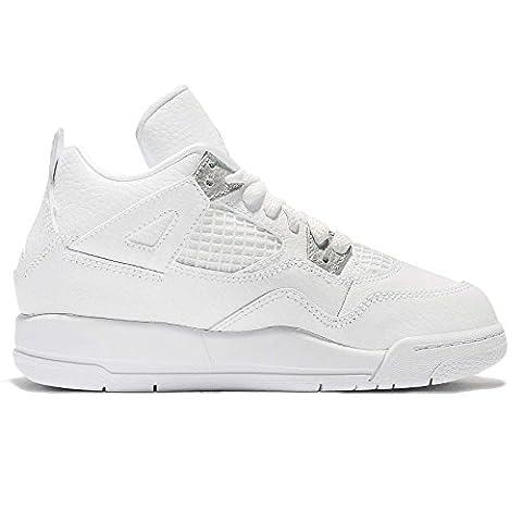 Nike Air Jordan PS Little Kids rétro 4Chaussures de mode - noir - Medium