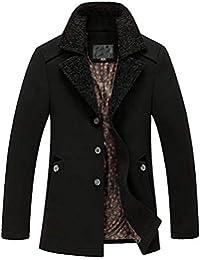 HaiDean Mantel Herren Wolle Windbreaker Männer Wollmantel Schlank Nner  Modernas Lässig Jacken Mens Trenchcoat Slim Fit b0e2c2a786