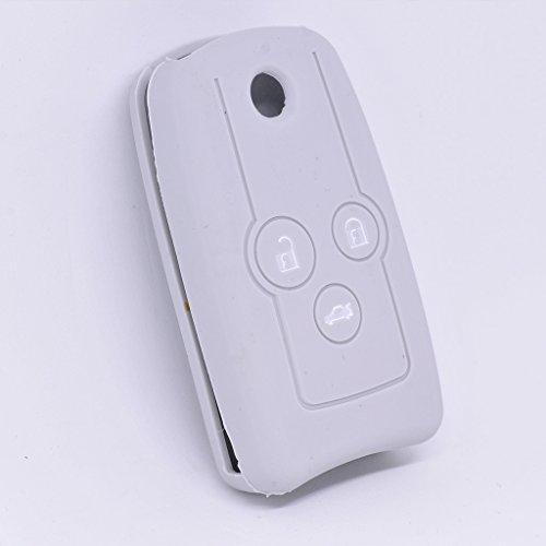 Soft Case Schutz Hülle Auto Schlüssel für Honda Accord Jazz Civic CR-V Klappschlüssel Remote/Farbe: Grau (Accord Für Honda Remote-key)