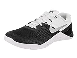 Nike Men's Metcon 3 Blackwhite Metallic Silver Training Shoe 10.5 Men Us
