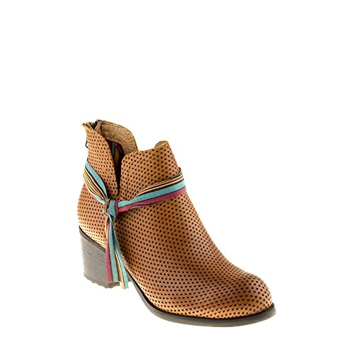 Felmini Chaussures Femme - Tomber en Amour avec Zeta A342 - Bottes Talons Hauts - Cuir Véritable - Marron Marron