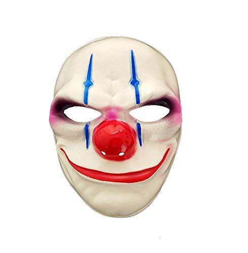 JIAENY Halloween-Maske,Halloween Maske Minch Clown Masken Für Maskerade Party Scary Clowns Maske Zahltag Halloween Horrible Masken,C