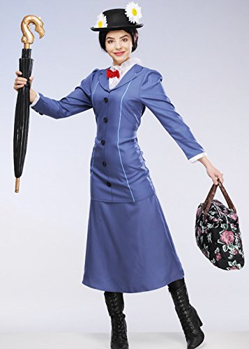 Magic Box Int. Erwachsene Damen Mary Poppins Costume Small (UK 8-10) (Für Damen Boxen-kostüm)