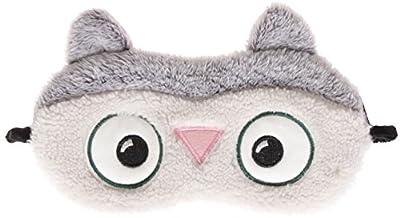 Cute Animal Fluffy Novelty Sleep, Eye Mask, Blindfold with 3D Ears, Cat, Owl, Panda or Rabbit