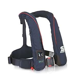 Forwater Survival 275N Gilet de sauvetage gonflable automatique avec harnais Bleu