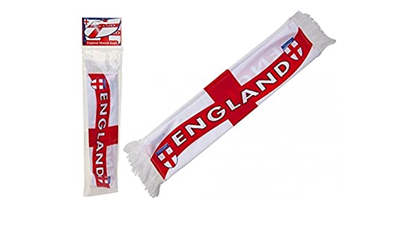 Deluxe 16 x 3 Mini England Car Mascot Scarf St George Flag Football Window Accessory