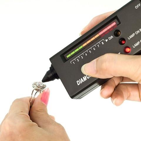Kit tester V2 diamanti gioielleria strumento selezione + case + 60x zoom lente TE20 - Kit Di Calibrazione