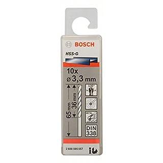 Bosch 2608595057 Metal Drill bits HSS-G, DIN 338, Silver