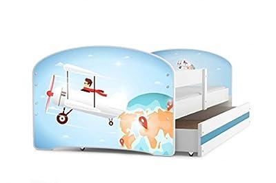 Cama individual LUKI - AVIADOR, 160x80, con cajón, somier y colchón de espuma GRATIS!