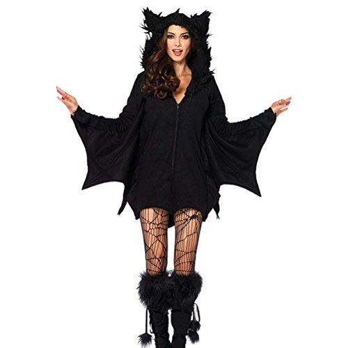 Cosplay Kostüm Bat Kostüm Kit Hexe Outfit für Mädchen (Größe L) (Machen Sie Ein Batgirl Kostüme)