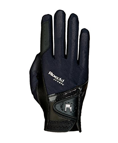 Roeckl Sports Handschuh Madrid, Unisex Reithandschuh, Schwarz, Größe 7,5