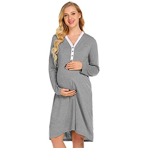 iYmitz  Robe de Nuit d'allaitement maternité Robe de maternité d'allaitement Chemise de Nuit Pyjama Robes de Chambre et Kimonos Peignoirs de Bain