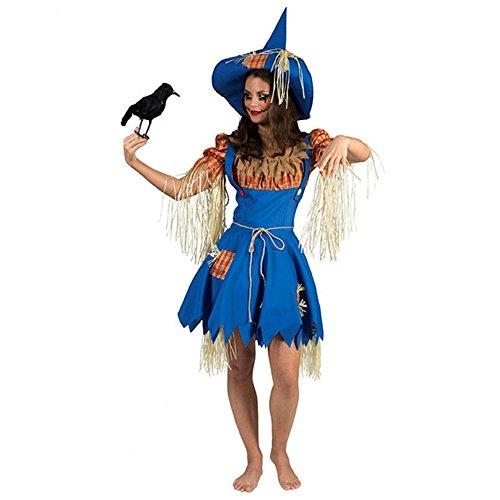 Vogelscheuchen Frau Olivia Kleid Hut Strohpuppe Mottoparty Garten (Eine Vogelscheuche Kostüm Frau)