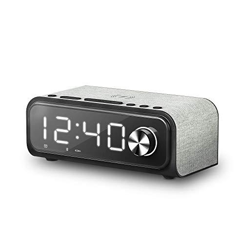 Energy Sistem Reloj - Altavoz Despertador 4 Wireless Charge (Dual Alarm, 10 W, Qi Charger, FM Radio, Bluetooth, USB/microSD MP3)