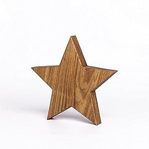 Woods Holzstern aus Eiche - Dekoration aus Holz handgefertigt in Bayern I Holzstern zum hinstellen - gemütliche Advent & Weihnachtsdeko für Fenster Flur Tür & Co I Holzstern groß 20, 30 oder 40cm