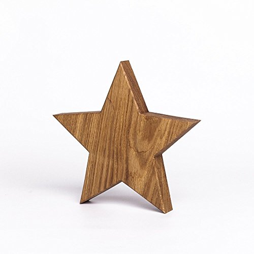 Holzstern aus Eichenholz | handgefertigt in Bayern | verschiedene Größen zur Auswahl | Holzdekoration Deko-Stern aus Holz Große Beilage
