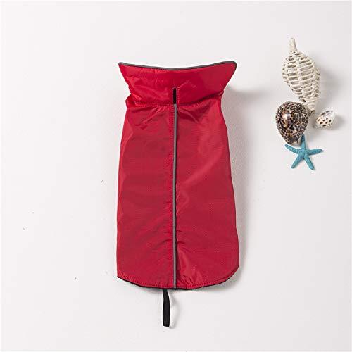 easybuy Hundemantel Wasserdicht Winterjacke Herbst Weste Pet Dog Coat Jacket,Nylon Fleece Futter Regenjacke Regenmantel wintermantel hundebekleidung für Kleine Mittlere große Hunde(4XL, Rot)