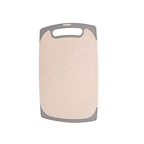 Schneidebrett LXJT Reishülsen-antibakterielles und schimmelbeständiges Haushaltsküche (Farbe : Beige, größe : 40 * 24 * 0.8cm) - Personalisierte Holz-messer