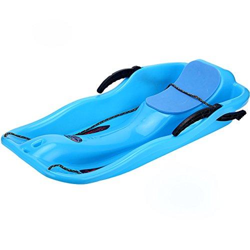 Funkatron Kinder Schnee Schlitten Boot Schlitten Glider mit Bremsen Downhill Sprinter Winter Toboggan, 86,4cm L x 40,6cm W, blau