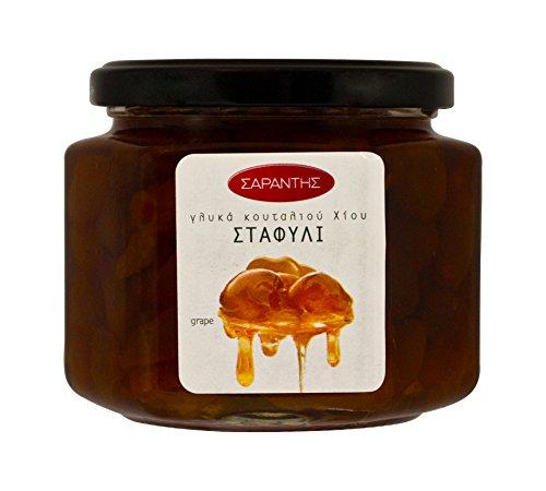 Eingelegtes mit Trauben Griechisches Traditioneller Süß saures Trauben in Sirup Nettogewicht 453gr (Traube-taste)
