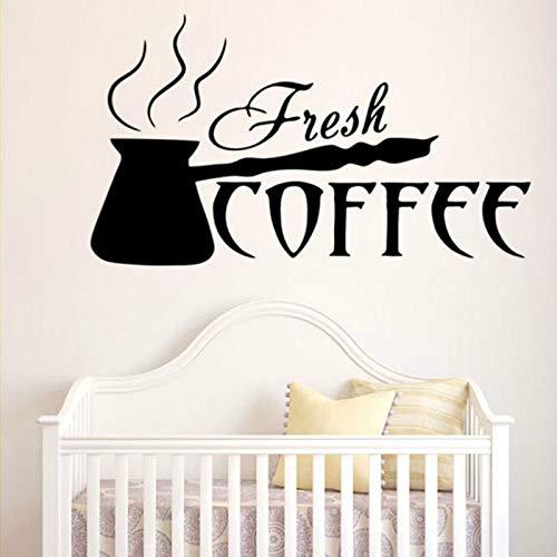 ljradj Englisch Kaffee Gedruckt Großen Schriftzug Dekorative Aufkleber Für Küche Mode Wohnzimmer Kunst Decor Vinyls Decals Poster schwarz 57X100 cm