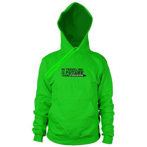 Planet Nerd BTTF: Regular Speed - Herren Hooded Sweater, Größe: M, Farbe: grün