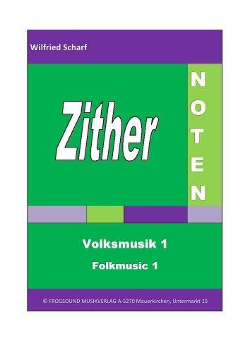 Zither-Noten: Volksmusik 1/Folkmusic 1