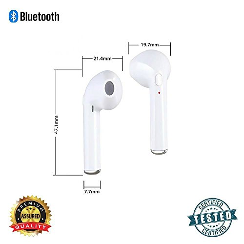 S4 Apple iPhone 5s, 6, 7 Plus compatible i7 in-ear wireless bluetooth music earphone with calling function support handsfree call specially designed for iOS devices ultralight headset stereo earbuds branded original top selling headphones tangle-free earphones