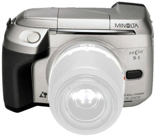 Minolta Vectis S-1 APS-Spiegelreflexkamera schwarz inkl. 2 Lithium-Batterien