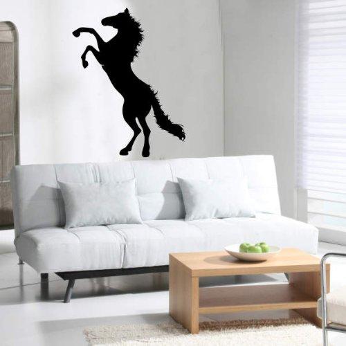 INDIGOS UG Wandtattoo W672Springendes–Wandtattoo, Motiv: Pferd Hengst