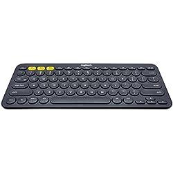 Logitech K380 Tastiera Multidispositivo, Bluetooth per Windows/mac/chrome/android, Layout Italiano, Grigio Scuro