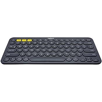 Logitech K380 Bluetooth-Tastatur für Windows, Mac, Chrome und Android dunkelgrau (QWERTZ, deutsches Tastaturlayout)