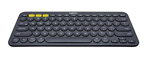 Logitech K380 Bluetooth-Tastatur für Windows, Mac, Chrome und Android dunkelgrau (QWERTZ, deutsches Tastaturlayout) (Android-logitech Tastatur)