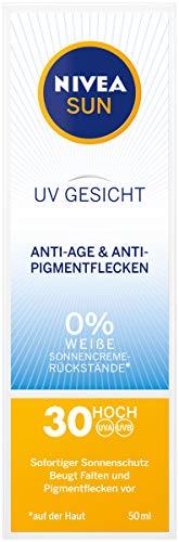 Nivea Sun Crema solar para cara, anti-age y antimanchas pigmento de luz, factor de protección 30, Tube, 50ml